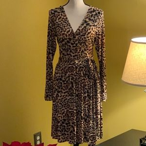Mode International Leopard Print Dress